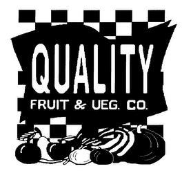 QUALITY FRUIT & VEG. CO. trademark