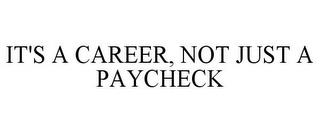 IT'S A CAREER, NOT JUST A PAYCHECK trademark