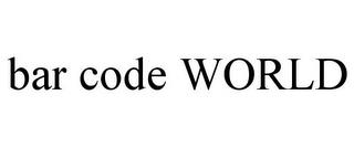 BAR CODE WORLD trademark