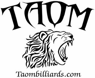 TAOM TAOMBILLIARDS.COM trademark