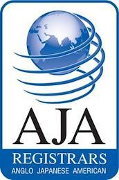 AJA REGISTRARS ANGLO JAPANESE AMERICAN trademark