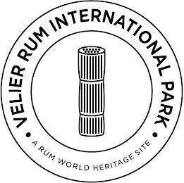VELIER RUM INTERNATIONAL PARK A RUM WORLD HERITAGE SITE trademark