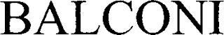 BALCONI trademark