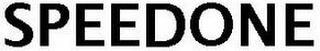 SPEEDONE trademark