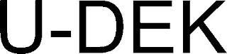 U-DEK trademark