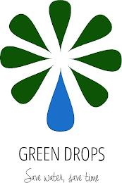 GREEN DROPS SAVE WATER, SAVE TIME trademark