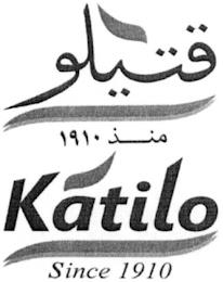KATILO SINCE 1910 trademark