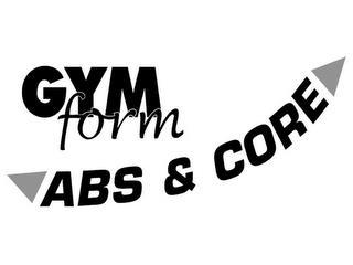 GYMFORM ABS & CORE trademark
