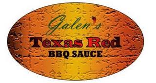 GALEN'S TEXAS RED BBQ SAUCE trademark