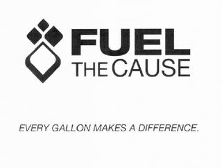 FUEL THE CAUSE EVERY GALLON MAKES A DIFFERENCE trademark