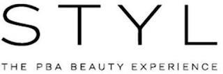 STYL THE PBA BEAUTY EXPERIENCE trademark