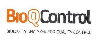 BIOQCONTROL BIOLOGICS ANALYZER FOR QUALITY CONTROL trademark