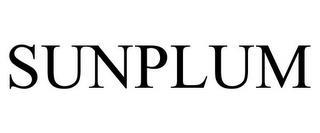 SUNPLUM trademark