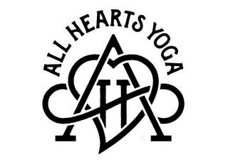 ALL HEARTS YOGA AH trademark