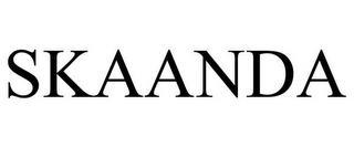 SKAANDA trademark