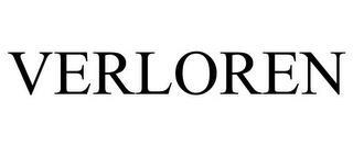 VERLOREN trademark
