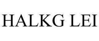 HALKG LEI trademark