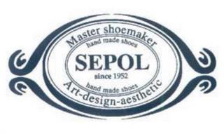 MASTER SHOEMAKER HAND MADE SHOES SEPOL SINCE 1952 ART-DESIGN-AESTHETIC trademark