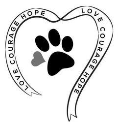 LOVE COURAGE HOPE LOVE COURAGE HOPE trademark