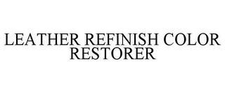 LEATHER REFINISH COLOR RESTORER trademark
