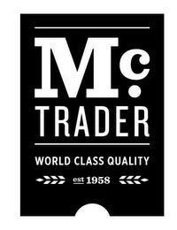 M C. TRADER WORLD CLASS QUALITY EST 1958 trademark