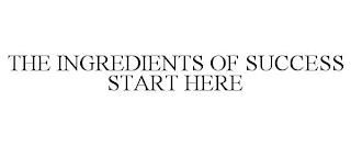 THE INGREDIENTS OF SUCCESS START HERE trademark