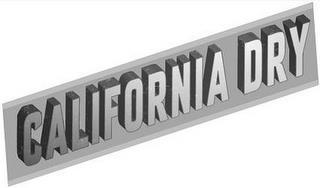 CALIFORNIA DRY trademark