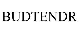 BUDTENDR trademark