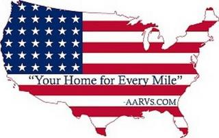 """""""YOUR HOME FOR EVERY MILE"""" - AARVS.COM trademark"""