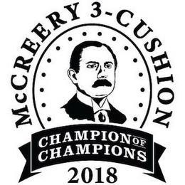 MCCREERY 3-CUSHION CHAMPION OF CHAMPIONS 2018 trademark