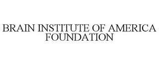 BRAIN INSTITUTE OF AMERICA FOUNDATION trademark