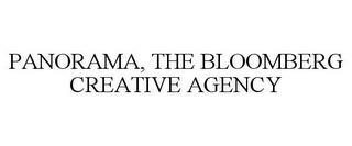 PANORAMA, THE BLOOMBERG CREATIVE AGENCY trademark