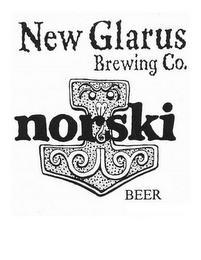 NEW GLARUS BREWING CO. NORSKI BEER trademark