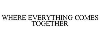 WHERE EVERYTHING COMES TOGETHER trademark
