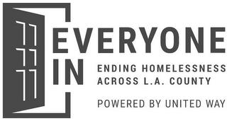 EVERYONE IN ENDING HOMELESSNESS ACROSS L.A. COUNTY POWERED BY UNITED WAY trademark