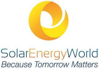 SOLARENERGYWORLD BECAUSE TOMORROW MATTERS trademark
