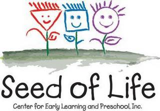 SEED OF LIFE CENTER FOR EARLY LEARNING AND PRESCHOOL, INC. trademark