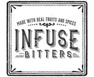 INFUSE BITTERS MADE WITH REAL FRUITS AND SPICES trademark
