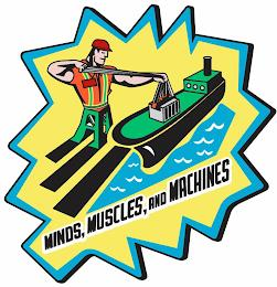 MINDS, MUSCLES, AND MACHINES trademark
