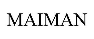 MAIMAN trademark