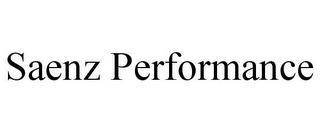 SAENZ PERFORMANCE trademark
