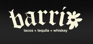 BARRIO TACOS+TEQUILA+WHISKEY trademark