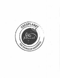 COCOPLANET COCO PLANET THE SOURCE OF GOODNESS trademark