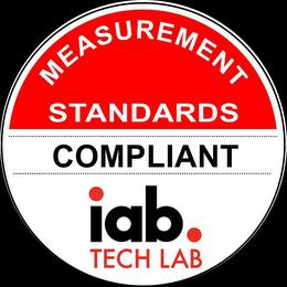 MEASUREMENT STANDARDS COMPLIANT IAB. TECH LAB trademark