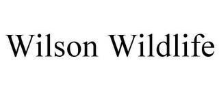 WILSON WILDLIFE trademark