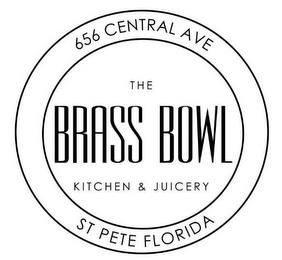 656 CENTRAL AVE ST PETE FLORIDA THE BRASS BOWL KITCHEN & JUICERY trademark