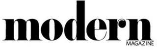 MODERN MAGAZINE trademark