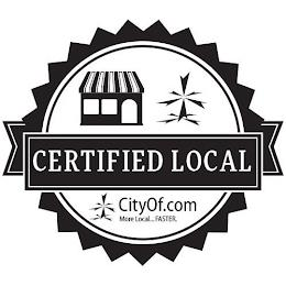 CERTIFIED LOCAL CITYOF.COM MORE LOCAL...FASTER trademark