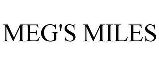 MEG'S MILES trademark