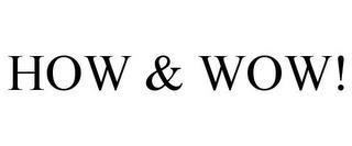 HOW & WOW! trademark